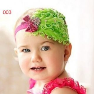 1X Baby Girl Kids Infant Peacock Feather Headband Hair Band Hair Flower Clothing