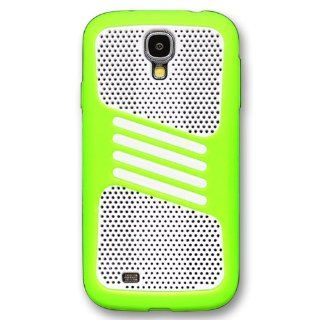 Casea Packing Heavy Duty Mesh Green Silicone Case Cover For Samsung Galaxy S4 i9500 Electronics