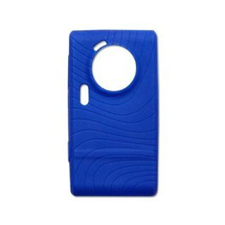 Fashionable Perfect Fit Soft Silicon Gel Protector Skin Cover (Faceplate/Snap On) Rubber Cell Phone Case for Samsung Memoir SGH T929 T Mobile   Navy Blue Cell Phones & Accessories