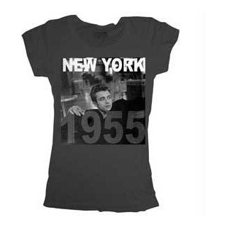 James Dean New York 1955 Washed Black Juniors T shirt Tee Clothing