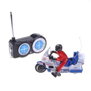 Mini Remote Control 1/52 RC MotorCycle Car Bike 2012 Blue And White Toys & Games