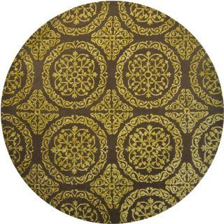 Satara Collection Hand tufted Contemporary Rug (7'9 Round) by Chandra Rugs   Area Rugs