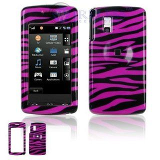 LG Vu CU920/CU915 Cell Phone Hot Pink/Black Zebra Design Protective Case Faceplate Cover Cell Phones & Accessories