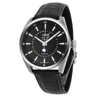 Oris Artelier Complication Black Dial Automatic Black Leather Mens Watch 01 915 7643 4054 07 5 21 81FC Oris Watches