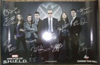 Agents Of Shield 13'x19' Poster Signed Autographed Auto SDCC Clark Gregg w/ COA Entertainment Collectibles