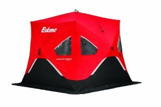Eskimo FF949 FatFish 3 4 Person Pop Up Portable Ice Shelter, Red/Black  Sports & Outdoors