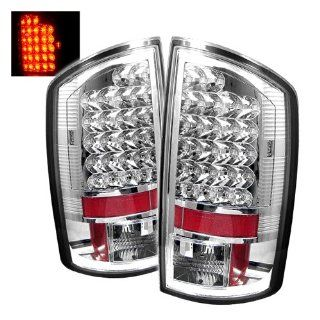 07 08 Dodge Ram 1500 & 07 08 09 Ram 2500/3500 LED Tail Lights + Hi Power White LED Backup Lights   Chrome (Pair) Automotive