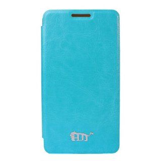 Pdncase LG G2 Cover Ultra Slim Premium Leather Case Compatible for LG Optimus G2 (Sky Blue) Cell Phones & Accessories