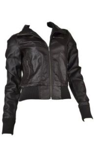 Fappac Women's Faux Leather Moto Jacket
