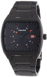Police Men's Distract PL.13407JSB/02M Black Stainless Steel Quartz Watch with Black Dial Police Watches