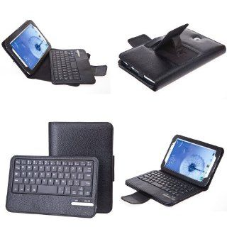 QQ Tech KeyBook Removable Bluetooth Keyboard Case PU Leather Tablet Stand For Samsung Galaxy Note 8.0   Black Computers & Accessories