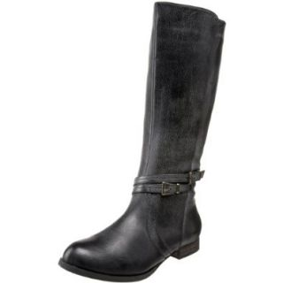 Miss Me Women's Fray 3 Knee High Boot,Black,8 M US Shoes