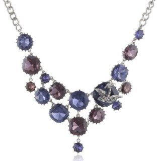 "Betsey Johnson ""Iconic Amethyst"" Crystal Gem and Bird Necklace, 19"" Betsey Johnson Jewelry Jewelry"