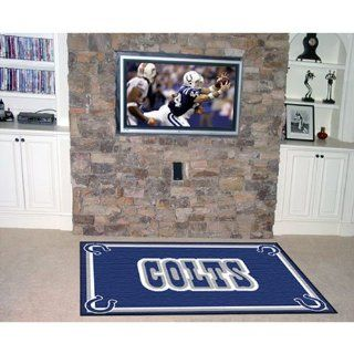 BSS   Indianapolis Colts NFL Floor Rug (4'x6')  Sports Fan Area Rugs  Sports & Outdoors
