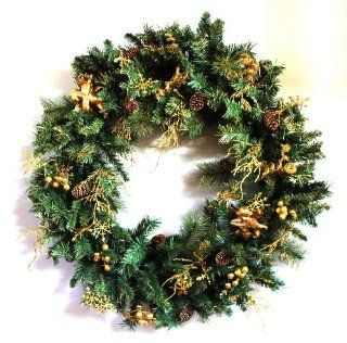 "Giant Christmas Wreath with Angels 36"" Diameter 2670"