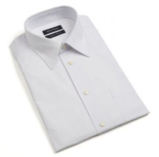 Nautica Men's Comfort Stretch Pt Collar Dress Shirt, White, 15/32/33 at  Men�s Clothing store