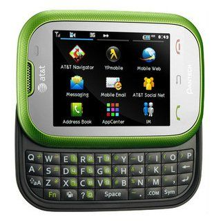 "Pantech Pursuit P9020 Unlocked GSM Phone with 3G, 2"" Touchscreen, QWERTY Keyboard, 2MP Camera, GPS and Bluetooth   Green Cell Phones & Accessories"