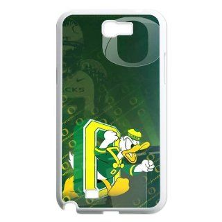 Customized Designer Case Cover Protector for Samsung Galaxy Note 2 N7100  NCAA Oregon Ducks Logo Series  01 Cell Phones & Accessories