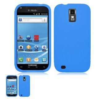 Samsung Galaxy S II T989 Blue Flexible Gel Skin TPU Case Cell Phones & Accessories