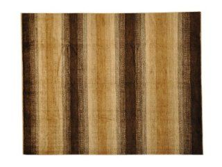 100% Wool 8'X10' Hand Knotted Natural Dyes Striped Modern Gabbeh Area Rug Sh1255   Hand Knotted Rugs