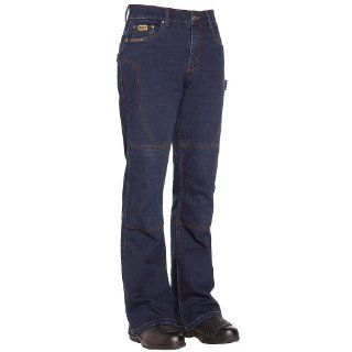 BILT IRON WORKERS Women's Iron Motorcycle Jeans   8, Deep Blue Automotive