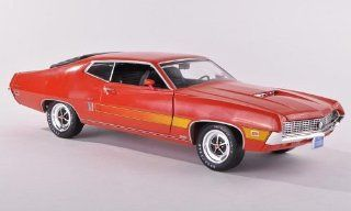 Ford Torino GT, red orange , 1970, Model Car, Ready made, ERTL American Muscle 118 ERTL American Muscle Toys & Games