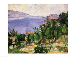 View of Mount Marseilleveyre and the Isle of Maire Poster Print by Paul Cezanne (24 x 18)   Prints