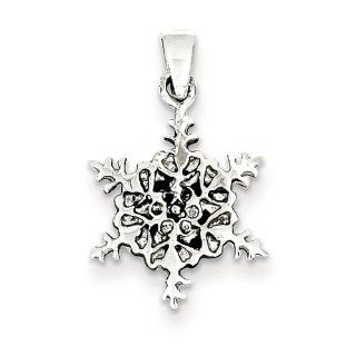 Sterling Silver Antiqued Snowflake Pendant, Best Quality Free Gift Box Satisfaction Guaranteed Pendant Necklaces Jewelry