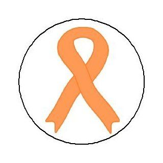 "(Quantity 50) PEACH AWARENESS RIBBON 1.25"" MAGNETS (Thanking soldiers for defending US, uterine cancer)  Refrigerator Magnets"