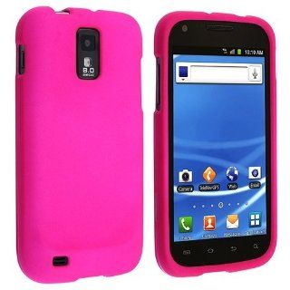 eForCity Snap on Rubber Coated Case Compatible with T Mobile Samsung? Galaxy SII / S2 Hercules SGH T989 (T Mobile), Hot Pink Cell Phones & Accessories