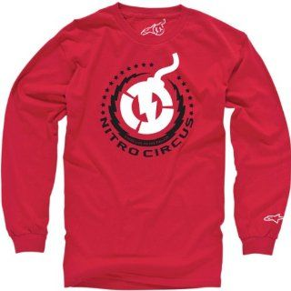 Alpinestars NC Logo Long Sleeve T Shirt , Gender Mens/Unisex, Primary Color Red, Size XL, Distinct Name NC Logo Red INCI71140030XL Automotive