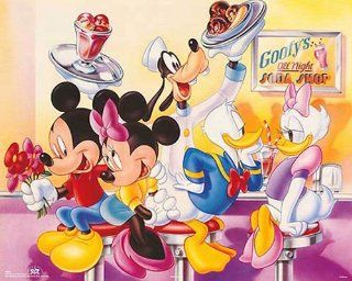 Walt Disney Mickey & Friends Goofy's Soda Shop. Children's Poster Print (16X20)