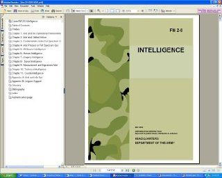 U.S. Army FM 2 0 Intelligence Military, Human, Imagery, Signals, Counterintelligence Field Manual Guide Book on CD ROM