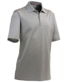 Straight Down Clothing Men's 'Belmont' Polo Shirt Silver at  Men�s Clothing store