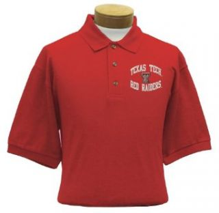 Texas Tech Men's Embroidered Pique Polo Shirt (Large)  Sports Fan Polo Shirts  Clothing