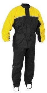 River Road High N Dry 2 Piece Rainsuit , Distinct Name Black/Yellow, Primary Color Black, Size Lg, Gender Mens/Unisex XF09 0234 Automotive