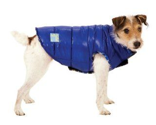 Fashion Pet Blue Reversible Puffy Dog Vest Small  Pet Raincoats