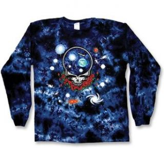 "Grateful Dead ""Space Your Face"" Long Sleeve Tie Dye T Shirt   XX Large at  Men�s Clothing store Fashion T Shirts"