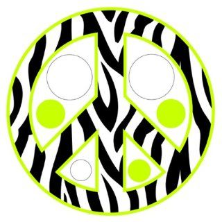 Zebra Print / Stripe Polka Dots & Peace Sign Repositionable Wall Decals, Lime Green   Wall Decor Stickers