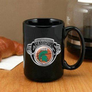 Michigan State Spartans 2009 NCAA Men's Basketball National Champions Black 15oz. Pewter Logo Mug   Camping Cooking Utensils  Sports & Outdoors