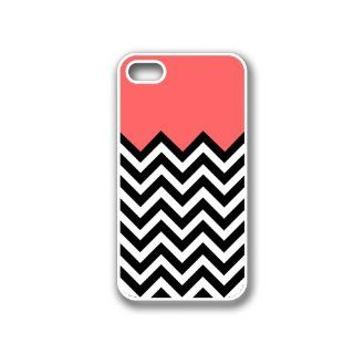 Coral Plus Chevron iPhone 4 Case White   Fits iPhone 4 and iPhone 4S Cell Phones & Accessories