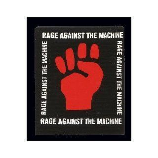 "Rage Against the Machine   White Logo with Red Fist   2"" x 2.25"" Thin & Flexible Refrigerator Magnet Kitchen & Dining"