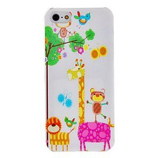 Happy Animal Pattern Hard Case with Mirror for iPhone 5/5S  Cell Phone Carrying Cases  Sports & Outdoors