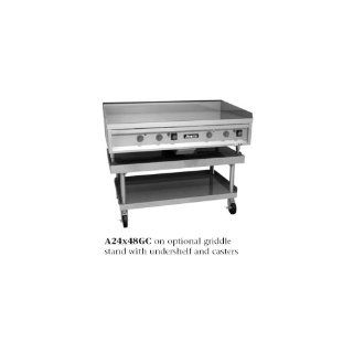 ANETS A24X60GC GoldenGrill Griddle Countertop Gas 60 W x 24 D X 150 000 BTU 3/4 Thick Chrome Plate Manual Controls SGC Series  Grill Griddles  Patio, Lawn & Garden