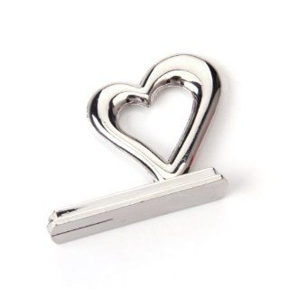12x Heart Themed Reception Table Place Card Holder Wedding Party Favor / Adds A Modern Touch to Any Table Setting, UseD for Place Cards, Table Numbers, Menus or Table Greetings, Also for Holding Photo or Memo   Business Card Holders