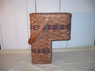 "Amish Handmade Stair Step Basket (Small). This Handmade Basket Enhances Any Country Home Decor and Also Makes Carrying Items up and Down the Stairs Easier. You Will Love It Measures Top Opening 12"" X 9""   14.5"" High   7"" From Bottom o"