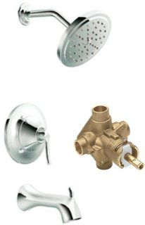 Moen TS31704 2520 Waterhill Posi Temp Tub/Shower Valve Trim Kit with Valve, Chrome   Single Handle Tub And Shower Faucets