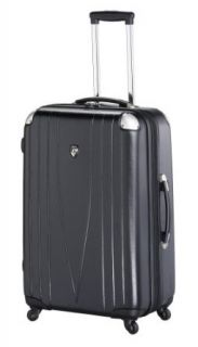 Heys USA Luggage 4Wd 26 Inch Hard Side Suitcase, Black, One Size Clothing
