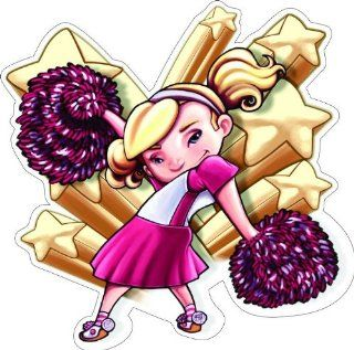 "2"" LITTLE CHEERLEADER Printed vinyl decal sticker for any smooth surface such as windows bumpers laptops or any smooth surface."