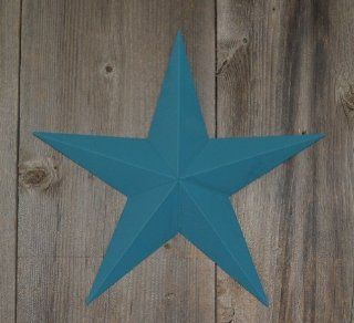 "24 Inch Heavy Duty Metal Barn Star Painted Solid Colonial Blue. The Solid Paint Coverage Gives the Star a Clean and Crisp Appearance. This Tin Barn Star Measures Approximately 24"" From Point to Point (Left to Right). The Barnstar Is Hand Crafted Out o"